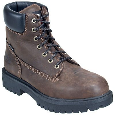 Timberland PRO Boots: Men's 38021 Brown Waterproof EH Steel Toe Boots