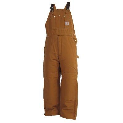 Carhartt Overalls: Arctic Quilt Lined Bib Overalls R03 BRN Sale $100.00 Item#R03BRN :
