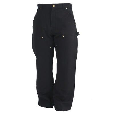 Carhartt Pants: Men's B01 BLK Black Cotton Duck Carpenter Pants