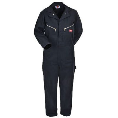 Dickies Coveralls: Deluxe Twill Black Coveralls 48799 BK Sale $39.00 Item#48799BK :