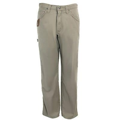 Wrangler Riggs Jeans: Men's Dark Khaki 3W020 DK Cotton Ripstop Carpenter Jeans