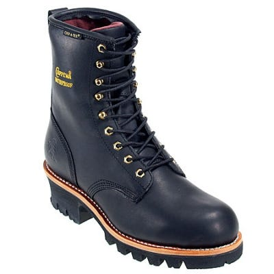 Chippewa Women's Waterproof L73050 Steel Toe EH Black Work Boots
