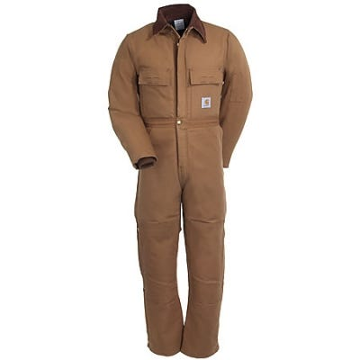 Carhartt Coveralls: Insulated Coveralls X02 BRN