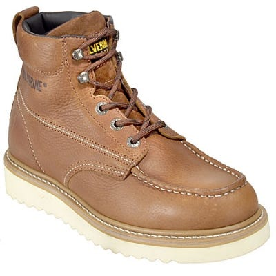 Wolverine 8288 Men's 6 Inch Brown Wedge Sole Moc-Toe Boot - 7.5EW