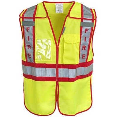 OccuNomix Vests: Hi-Visibility Public Safety Fire Vest LUX PSF