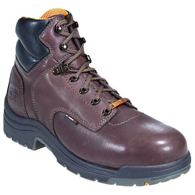 Timberland PRO Boots: Men's TiTAN 26078 Brown Alloy Toe Work Boots