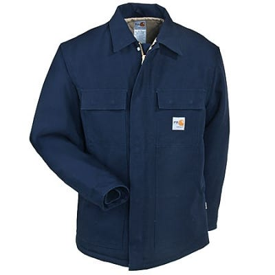 Carhartt Coats: Flame-Resistant Cotton Duck Lined Coat FRC066 DNY Sale $200.00 Item#FRC066DNY :