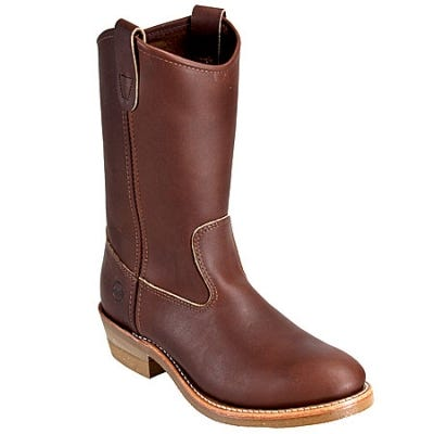 Double-H Boots: Men's Brown Ranch Pull-On 2555 USA-Made Cowboy Boots