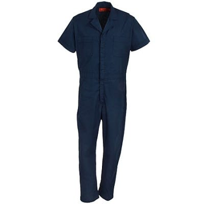 Red Kap Uniforms Men's Navy CP40 NV Unlined Short Sleeve Work Coveralls