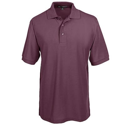 Port Authority Silk Touch Men's Burgundy Knit Shirt K500 BRG