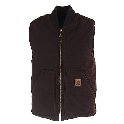 Carhartt Vests Outerwear Vests Dark Brown Sandstone Duck Arctic Vest V02DKB