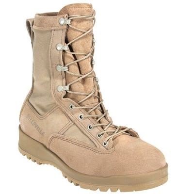 Belleville Boots: Men's 790 Tan Waterproof Flight and Combat Boots