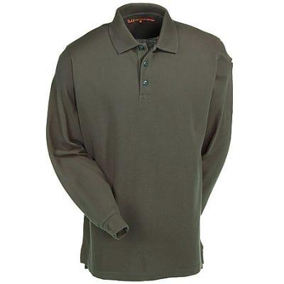 5.11 Tactical  Long Sleeve Green Polo Shirt 42056 860