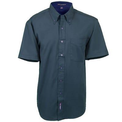 Port Authority Shirts Dark Green Short Sleeve Cotton Shirt S508