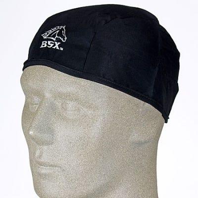 Black Stallion Caps Headgear Black SofTop Cotton Beanie Cap BC5B BK