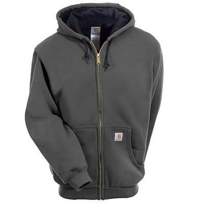 Carhartt Sweatshirts: Men's Charcoal J149 CHH Lined Hooded Zip Sweatshirt Sale $65.00 Item#J149CHH :