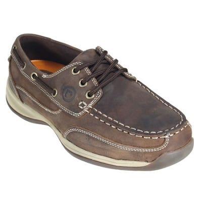 Rockport Works Shoes: Women's Steel Toe Tie EH Oxford Boat Shoes RK676