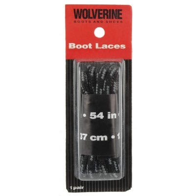 Wolverine Shoe Accessories Black W69413 Nylon 54 Inch Rugged Boot Laces