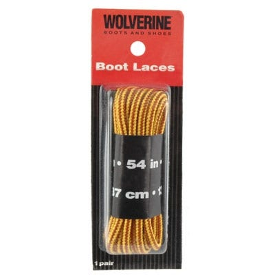 Wolverine Laces Shoe Accessories Gold/Tan Nylon 54 Inch Boot Laces W69409