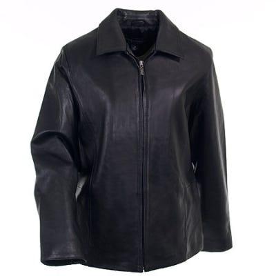 Port Authority Jackets: Women's Black Park Avenue Lambskin Jacket L785 BLK Sale $196.00 Item#L785-BLK :