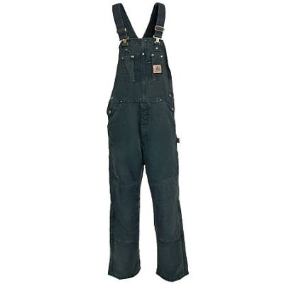 Carhartt Overalls: R27 MOS Men's Insulated Duck Sandstone Bib Overalls Sale $100.00 Item#357408146 :