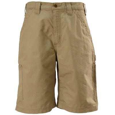 Carhartt Shorts: Men's Dark Khaki  B147 DKH Cotton Canvas Work Shorts