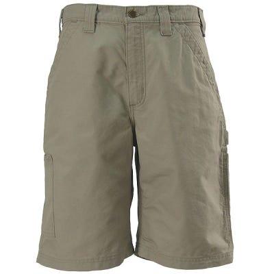 Carhartt Shorts:  Men's B147 TAN Cotton Canvas Work Shorts