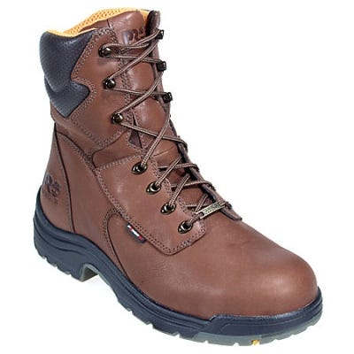 Timberland PRO Boots: Men's TiTAN 47019 Brown Waterproof Steel Toe Boots