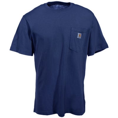 Sale Carhartt Navy Lightweight 4 7 Ounce Pocket T Shirt