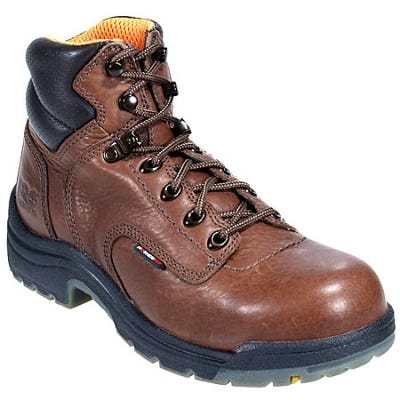 Timberland PRO Boots: Women's TiTAN 26388 Brown Alloy Toe Work Boots