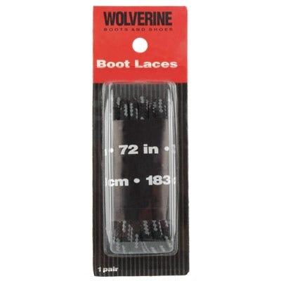 Wolverine Laces: Men's Black 72 Inch Nylon Boot Laces W69415