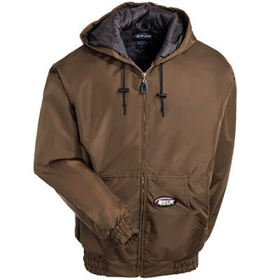 NiteLite Jackets Outerwear Jackets Waterproof Brown Hooded Jacket NLHJ