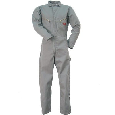 Dickies Coveralls: Gray Cotton Coveralls 48700 GY Sale $42.00 Item#48700GY :