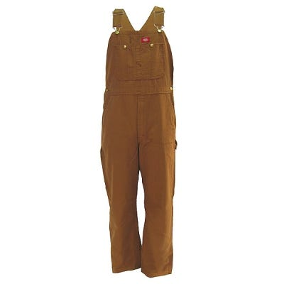 Dickies DB100 RBD Rinsed Brown Cotton Duck Bib Overalls