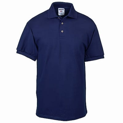 Jerzees Shirts: Mens Navy Jersey Knit Polo Shirt J100 NVY