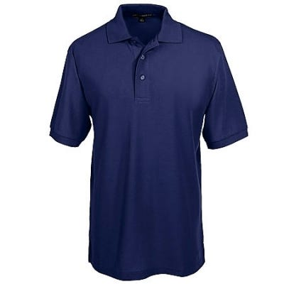 Port Authority Shirts: Silk Touch Navy Knit Polo Shirt K500 NVY