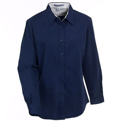 Port Authority Women's Navy Easy Care Woven Shirt L608 NVY