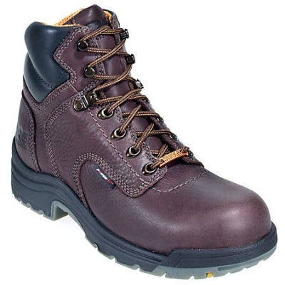 Timberland PRO Boots: Women's TiTAN 53359 Brown Steel Toe Waterproof Boots