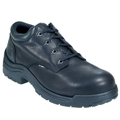 Timberland PRO Boots: Men's TiTAN 40044 Black Oxford Alloy Toe Work Shoes