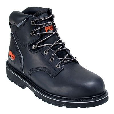 Timberland PRO Boots: Men's Pit Boss Black 33032 EH Steel Toe Work Boots