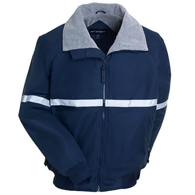 Port Authority Jackets: Men's Navy Lined Reflective Jacket J754R NVY - Blue