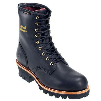Chippewa Boots: Men's 73051 Black Waterproof Insulated Logger Boots