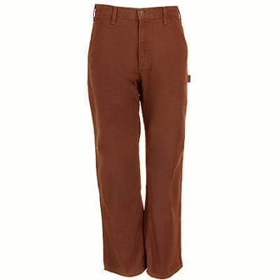 Carhartt Pants: Men's B11 BRN Cotton Duck Carpenter Work Pants