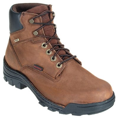 Wolverine Mens Durbin Waterproof 6-Inch Work Boots Brown 7