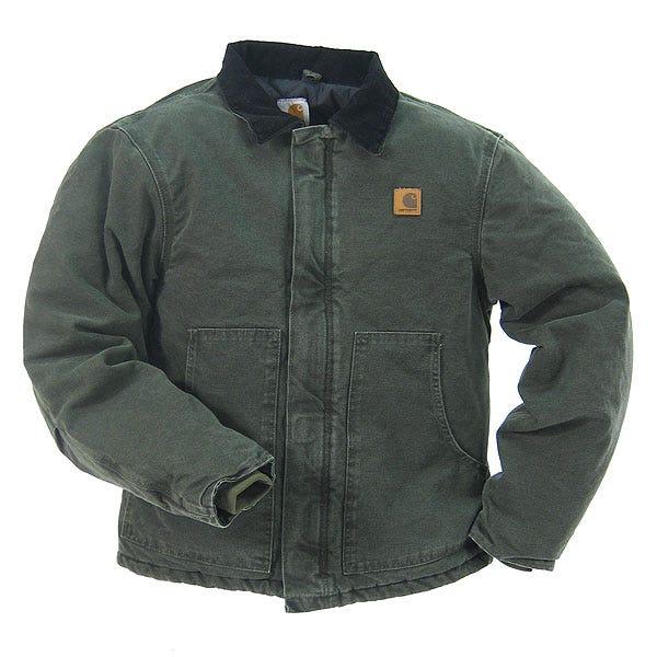 Carhartt Jackets Outerwear Jackets Lined Duck Jacket J22MOS - Green - Large