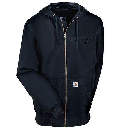 Carhartt Jackets: Men's Black Cotton Canvas Active Jacket J298 BLK Sale $95.00 Item#J298BLK :