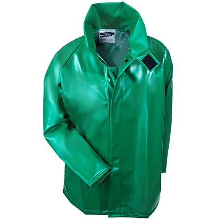 Tingley Rubber Men's Green Safetyflex  PVC Waterproof FR Rain Jacket J41008