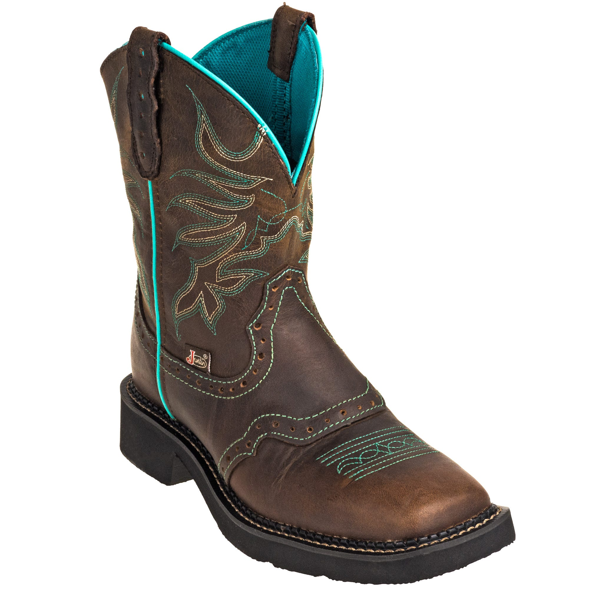 Justin Women's L9624 8-Inch Mandra Chocolate Brown Cowboy Boots