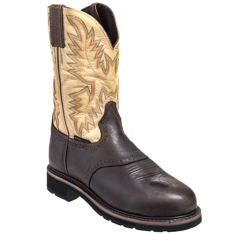 Justin Boots Men's Steel Toe Cowboy Boots WK4661