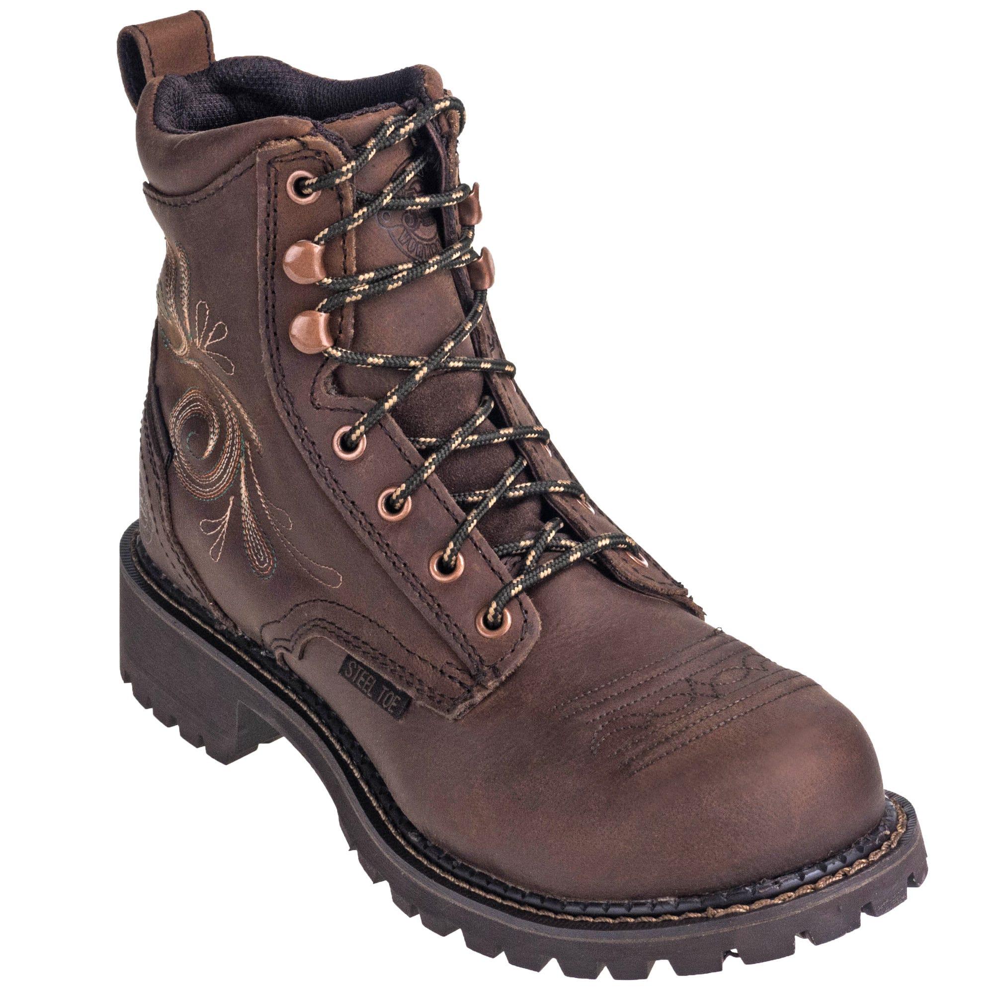 Justin Women's WKL985 Waterproof Steel Toe EH Gypsy 6-Inch Aged Bark Work Boots